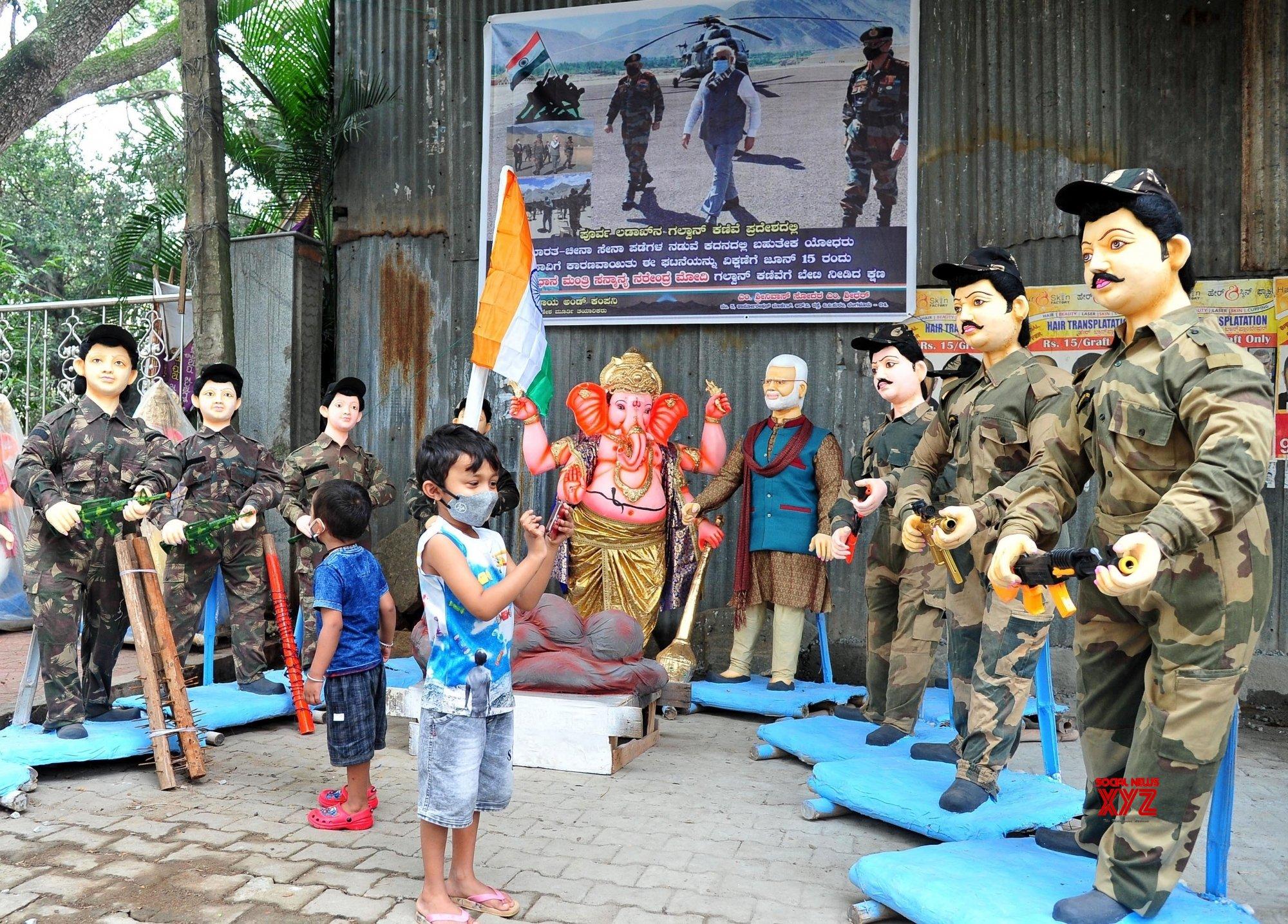 Bengaluru: COVID - 19 pandemic themed Ganesha idols come up ahead of Ganesh Chaturthi #Gallery
