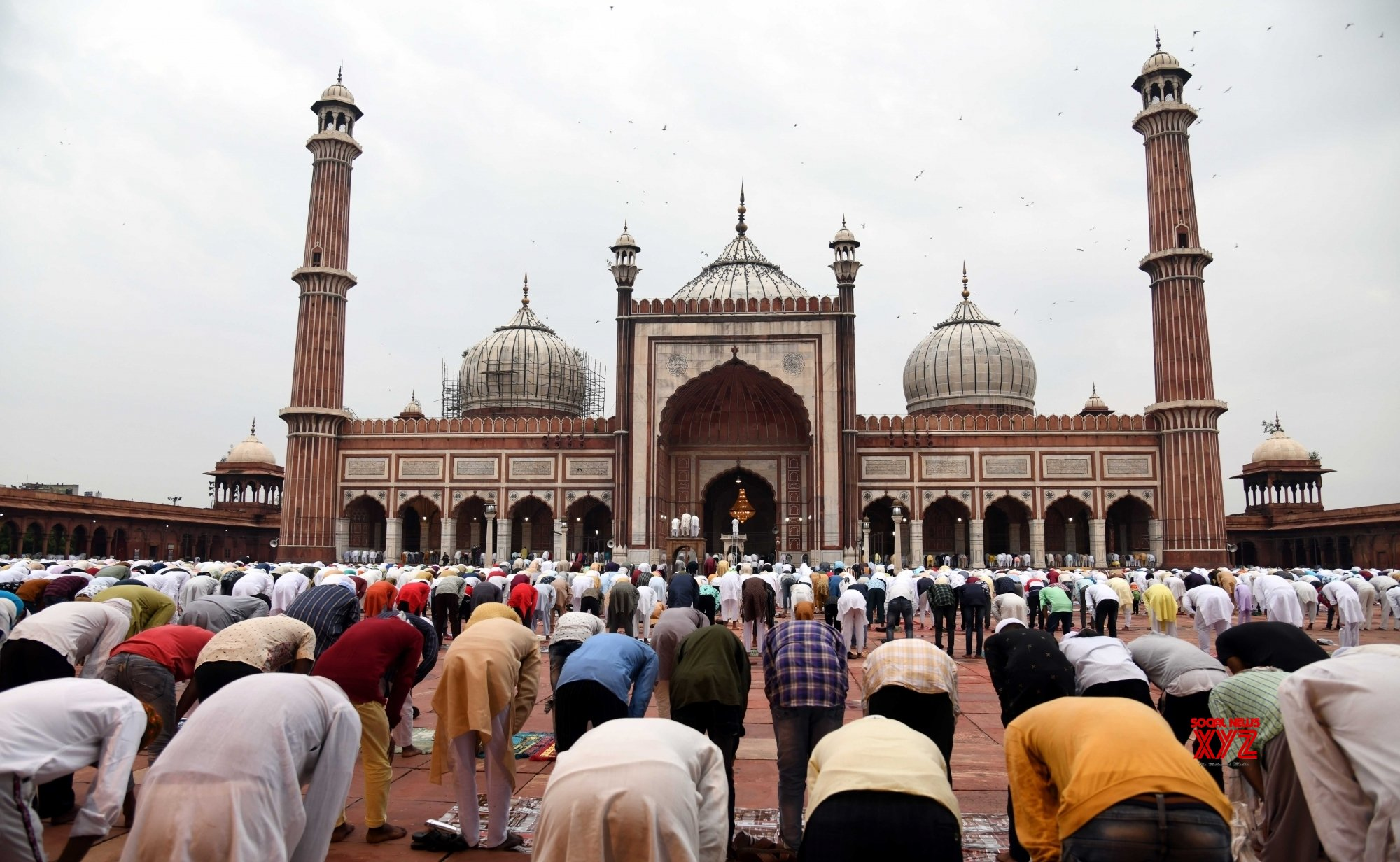 New Delhi: People offer prayers at Jama Masjid on Eid - Ul - Zuha #Gallery