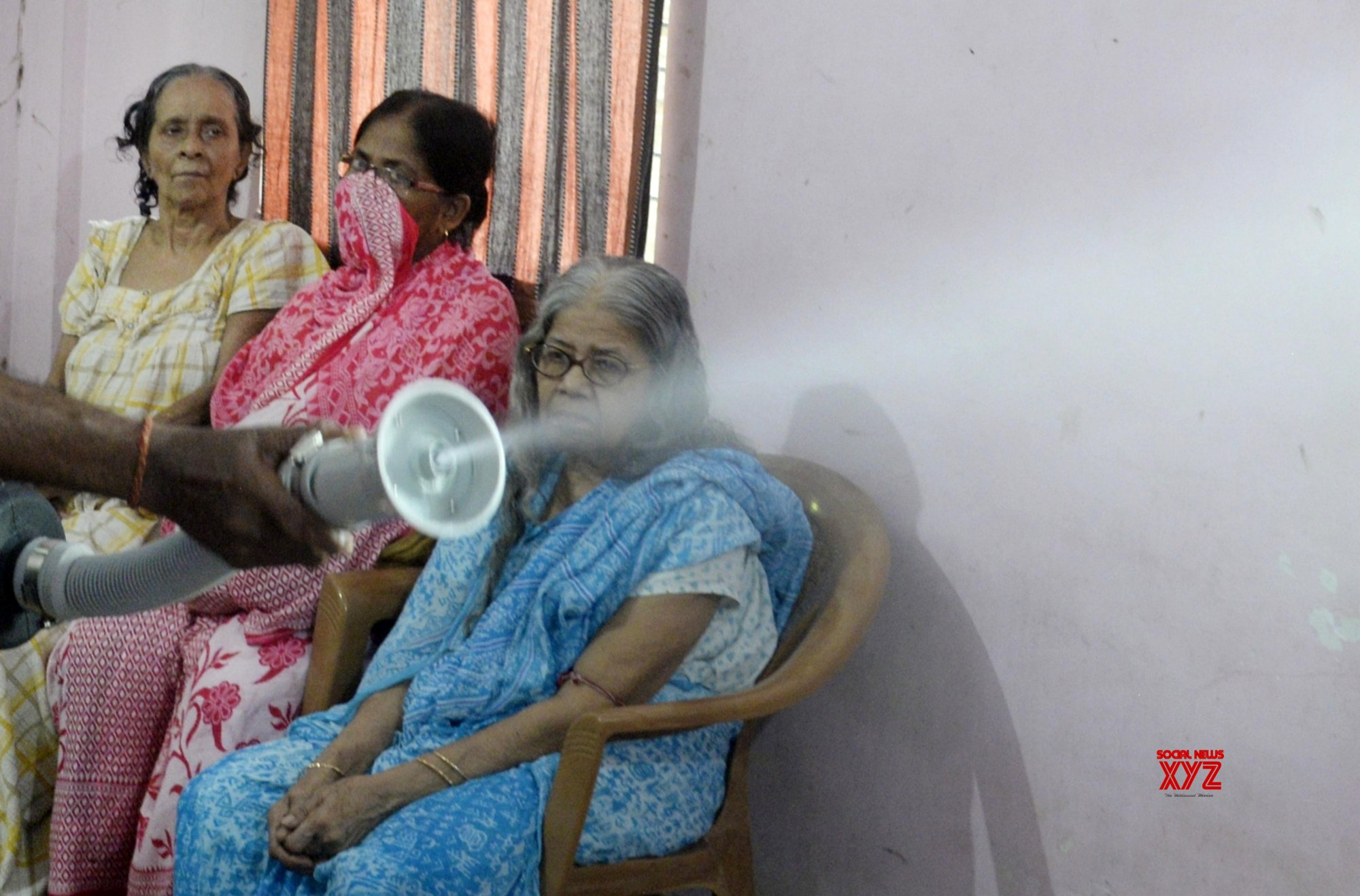 Kolkata: Old age home being sanitised amid COVD - 19 pandemic #Gallery