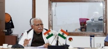 Chandigarh: Haryana Chief Minister Manohar Lal Khattar presides over the concluding session of a one-day Orientation Workshop for CEO, Zila Parishads, in Chandigarh on Aug 4, 2020. (Photo: IANS)