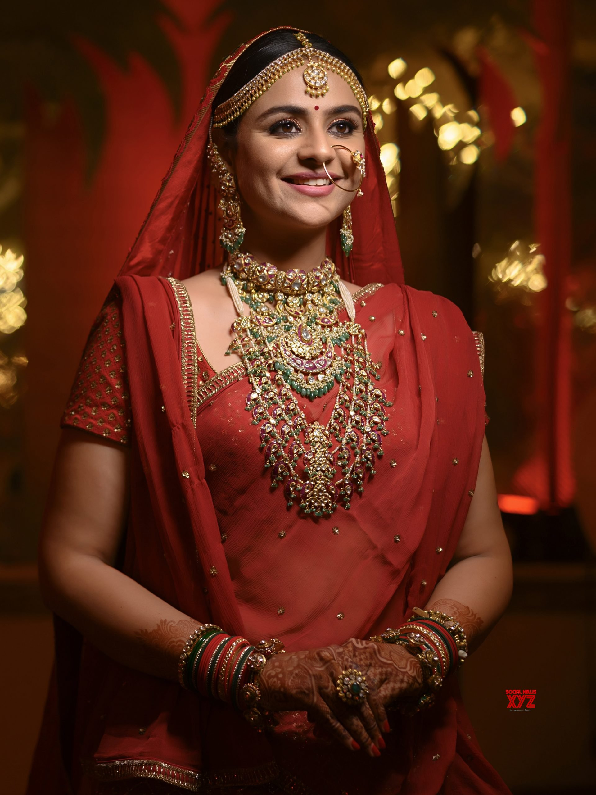 Actress Prachi Tehlan Chooses To Wear Designer Archana Aggarwal Timeless Jewellery On Her Wedding
