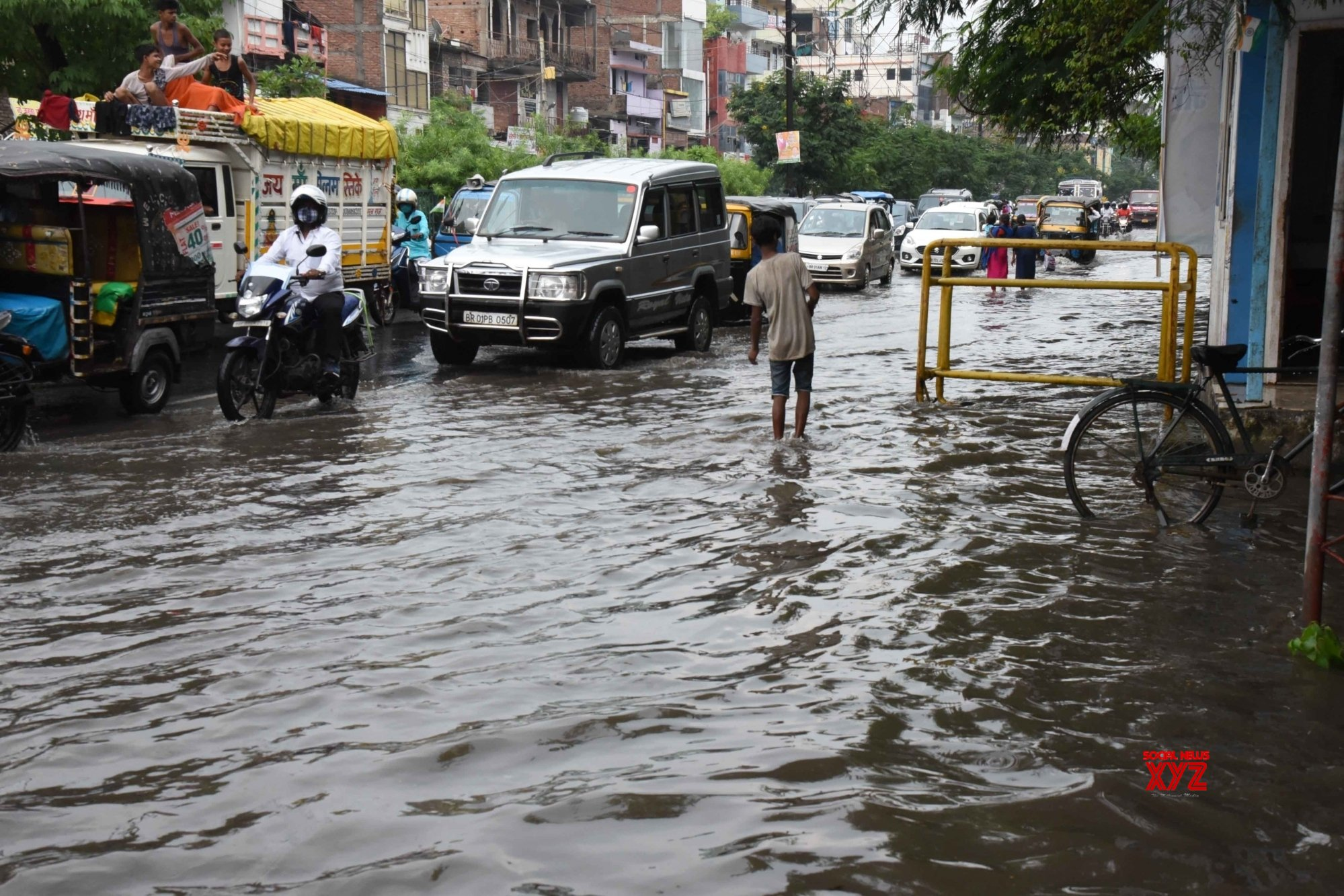 Patna: Heavy rains leave city waterlogged #Gallery