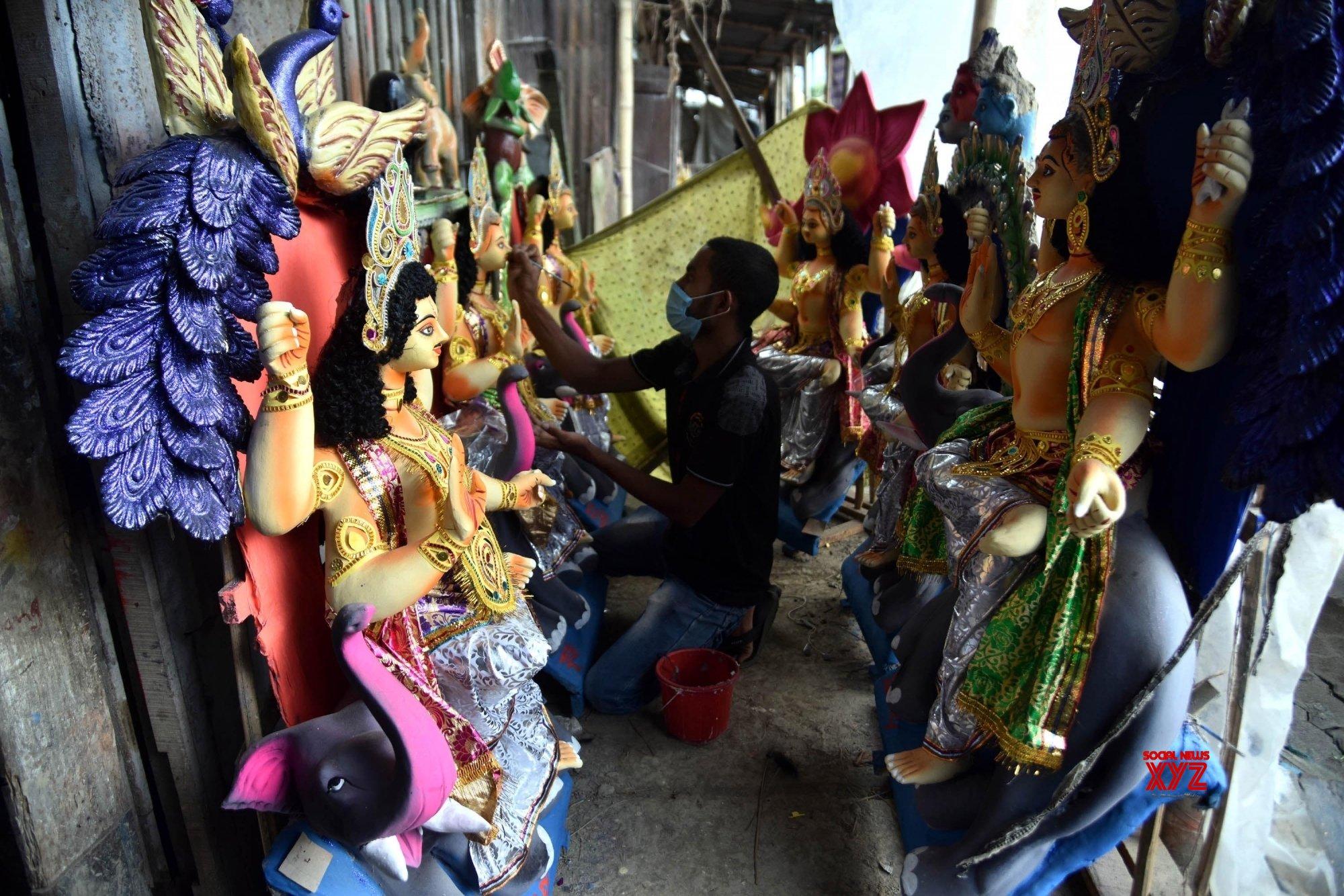 Nagaon: Preparations underway for Vishwakarma Puja #Gallery