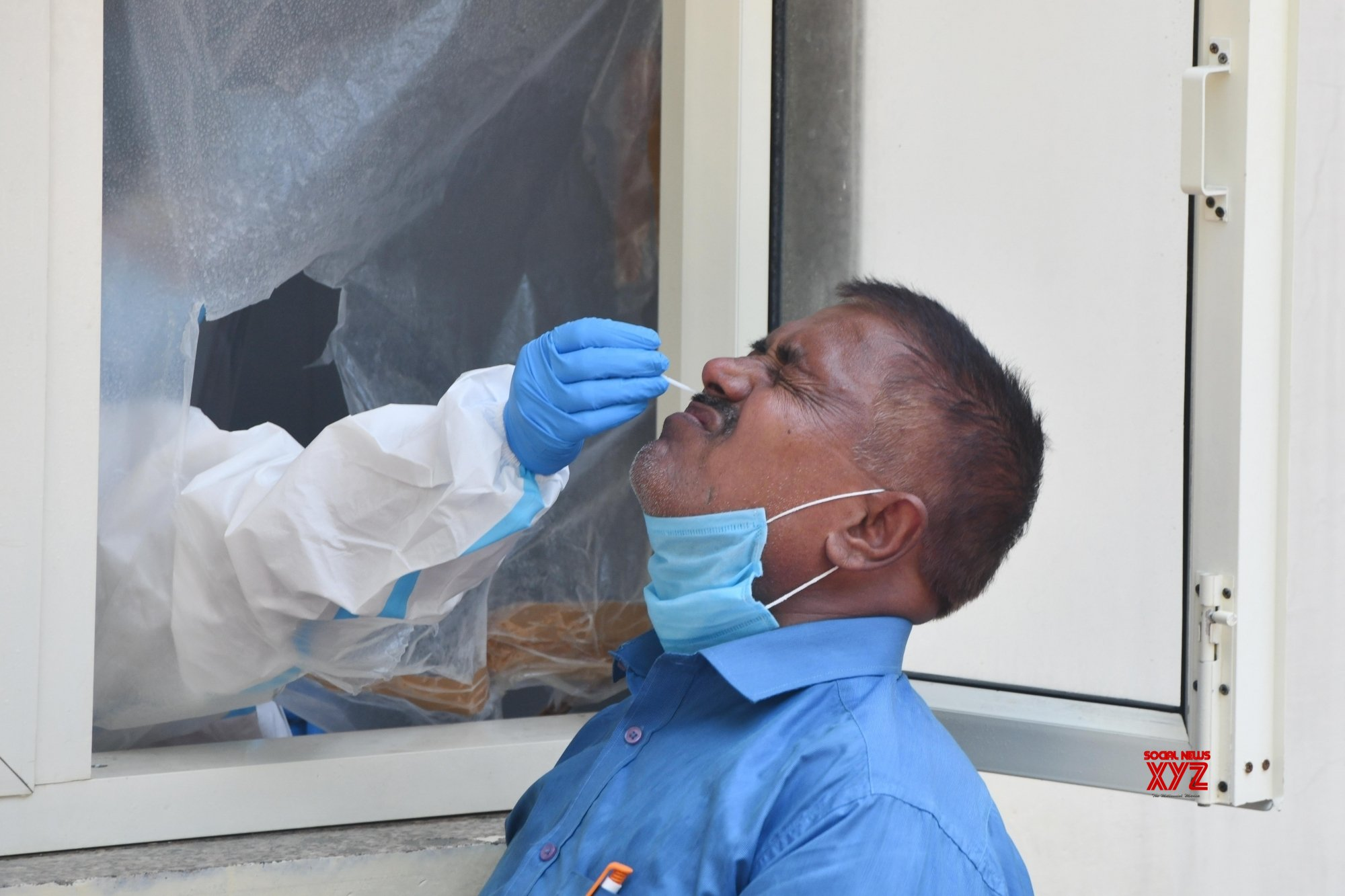 New Delhi: Swab samples for COVID - 19 testing collected at Nehru Homoeopathic Medical College and Hospital #Gallery
