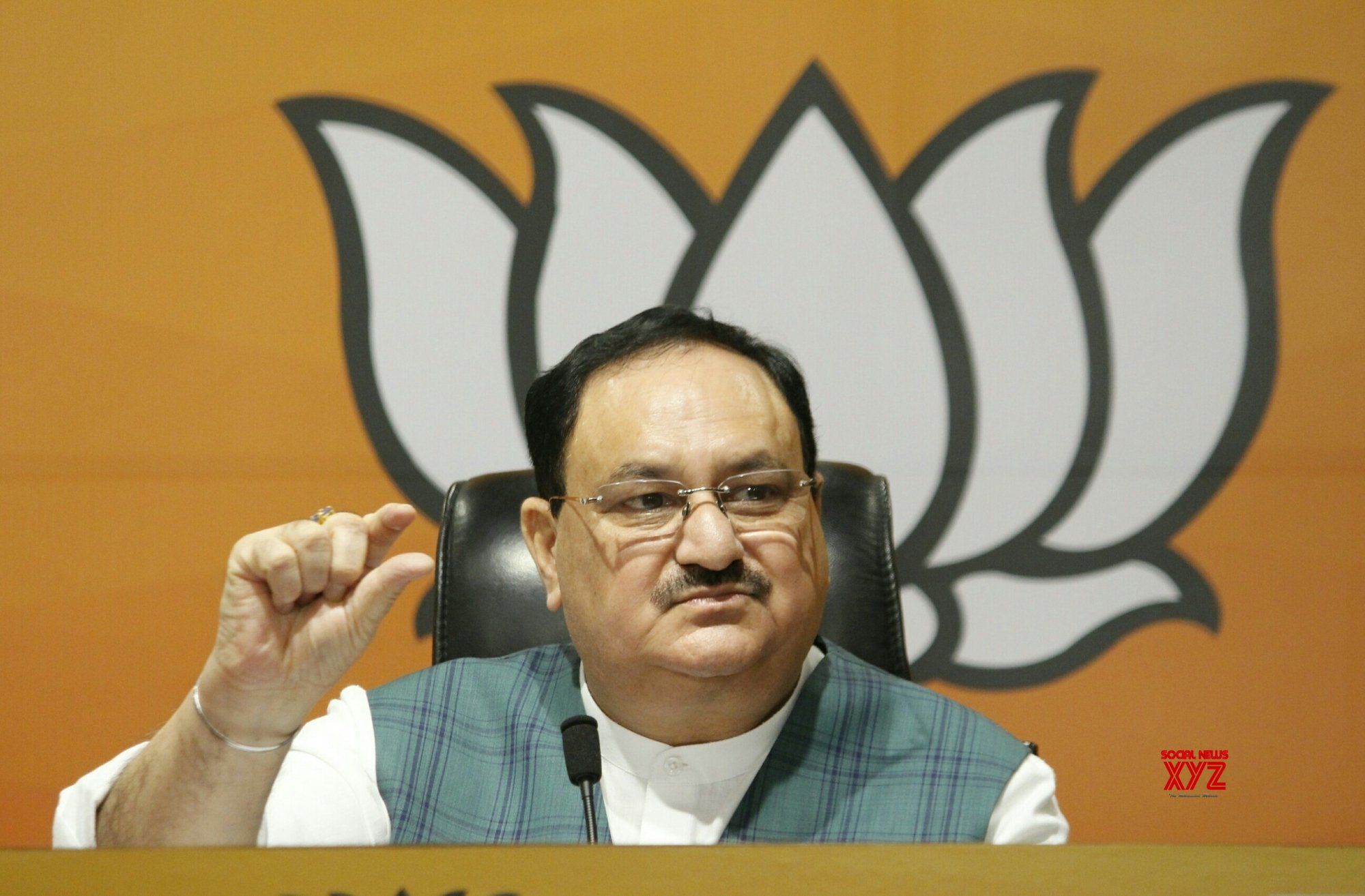 New Delhi: JP Nadda's press conference on three Bills on agriculture reforms introduced in Parliament #Gallery