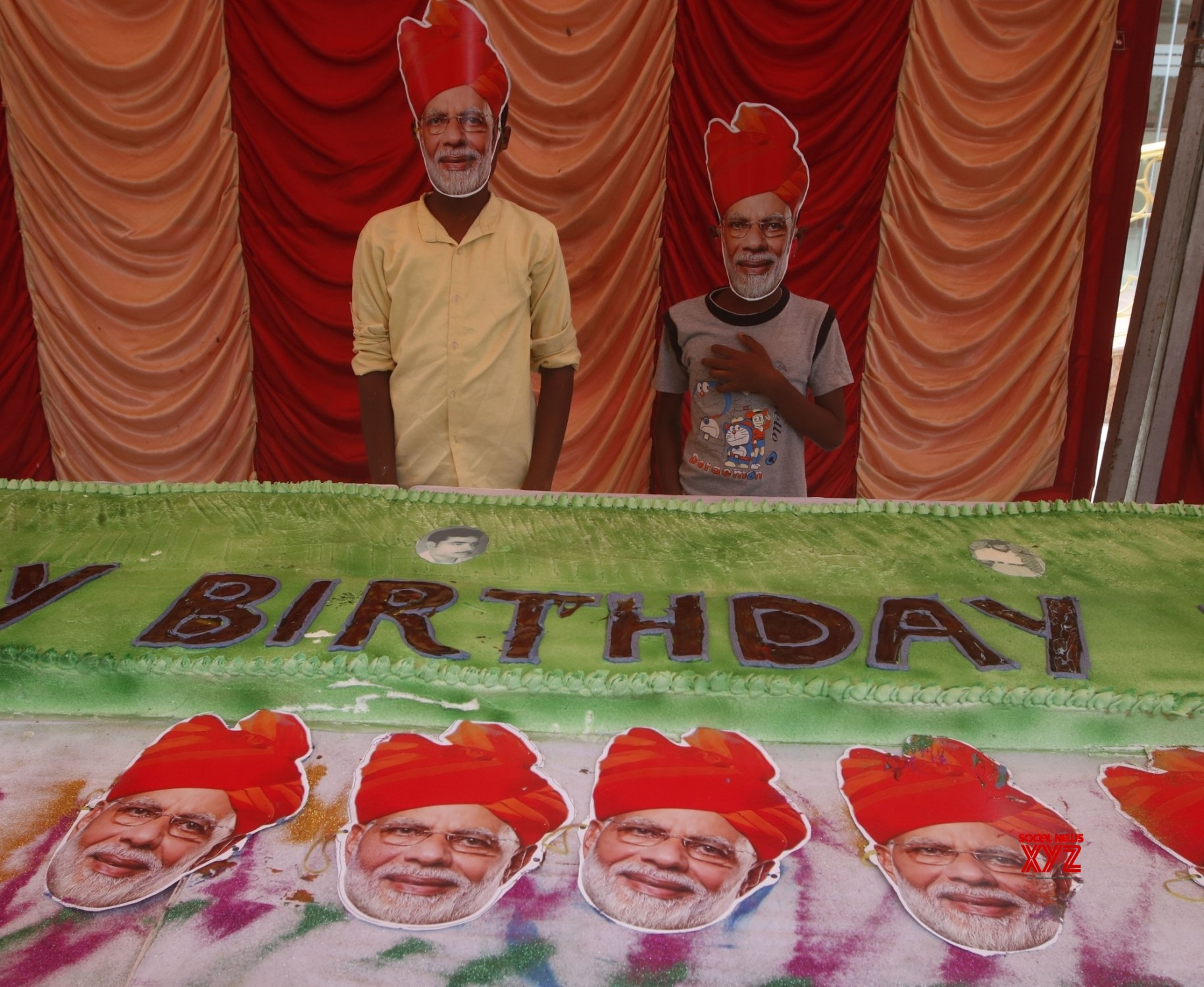 Chennai: BJP workers celebrate PM Modi's 70th birthday #Gallery