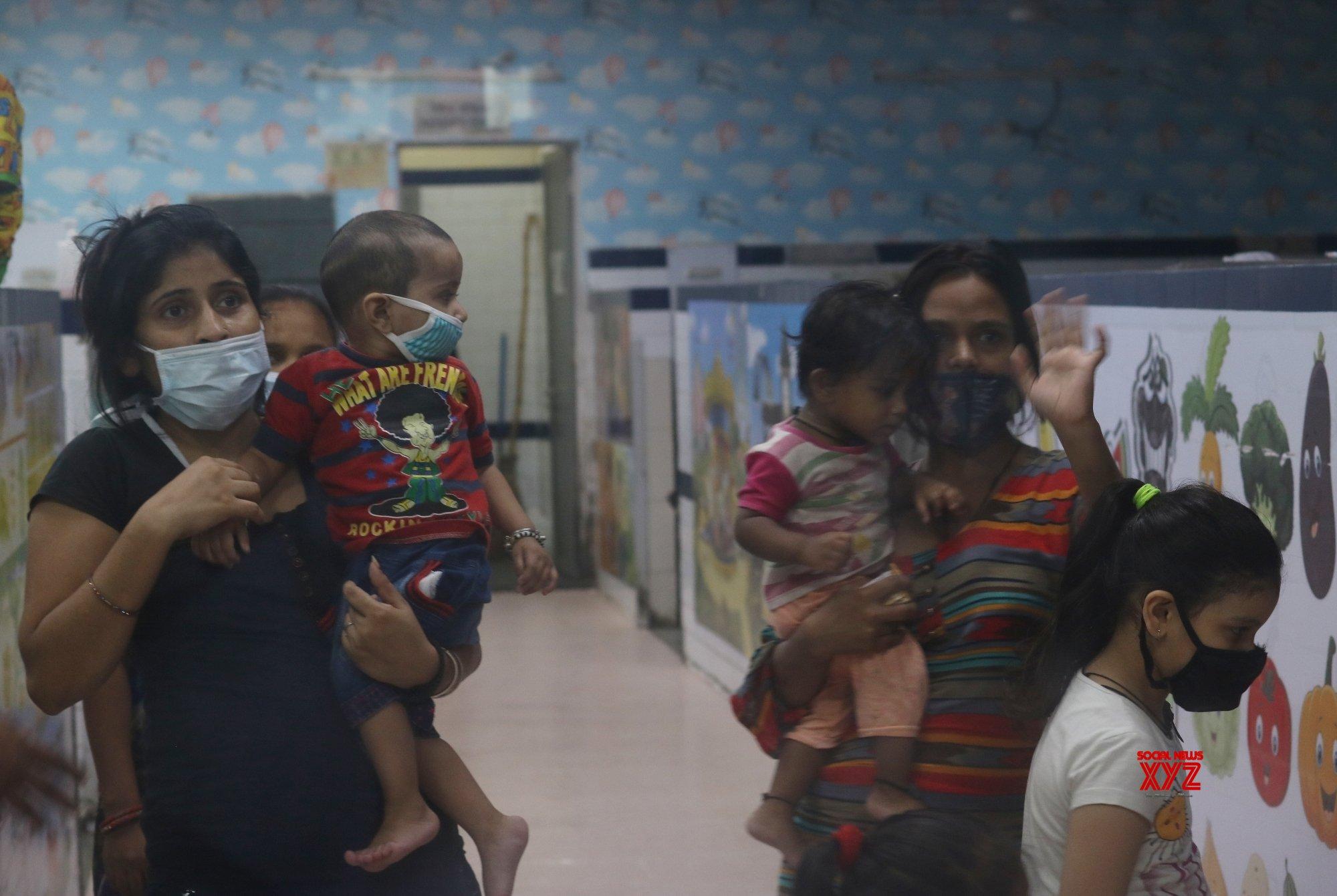 New Delhi: Delhi's first child - friendly COVID - 19 ward at LNJP #Gallery