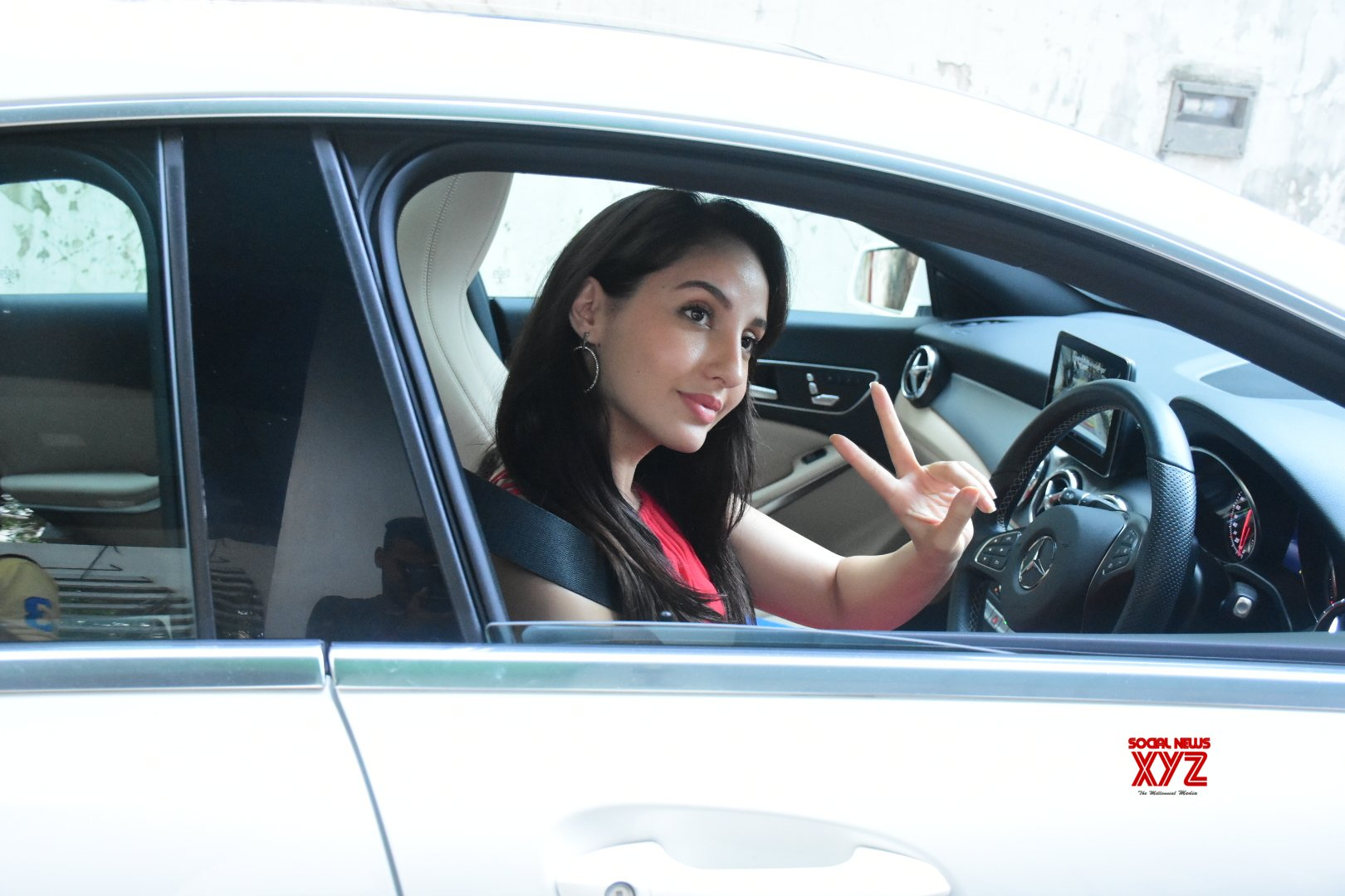 Actress Nora Fatehi Spotted At Bandra Gallery