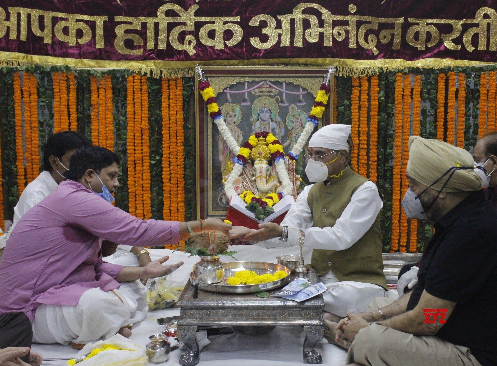 New Delhi: Members of Shri Dharmik Leela Committee perform Ganesh Puja #Gallery