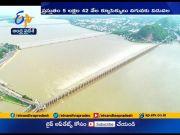 Flood Water Levels Decreasing   at Prakasam Barrage  (Video)
