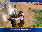 Residents Facing Problems | from Causeway Swept Away on Sarada River | at Devarapalli  (Video)