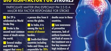Hidden till now, air pollution emerges as leading risk-factor contributing to strokes. (IANS Infographics)