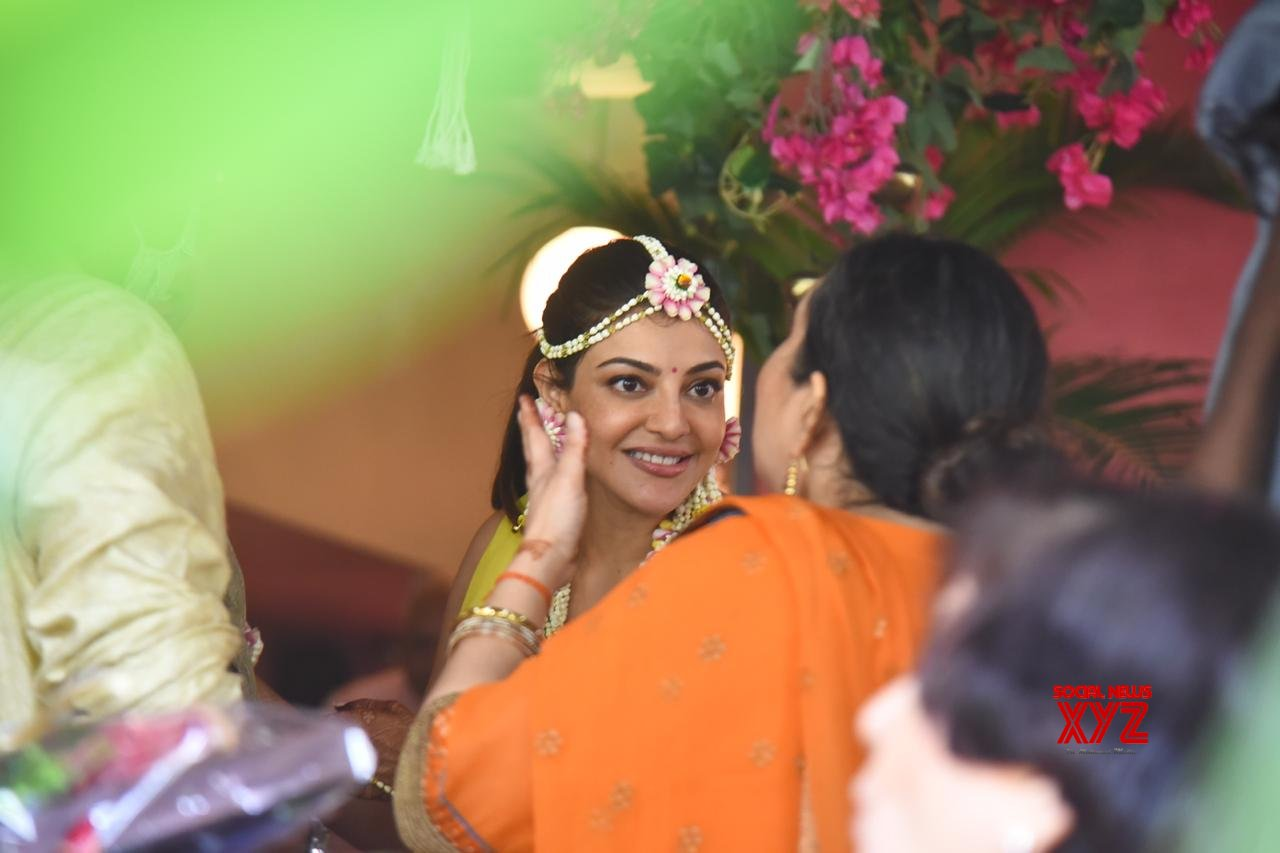 Actress Kajal Aggarwal Spotted At Her Mehendi Ceremony - Gallery