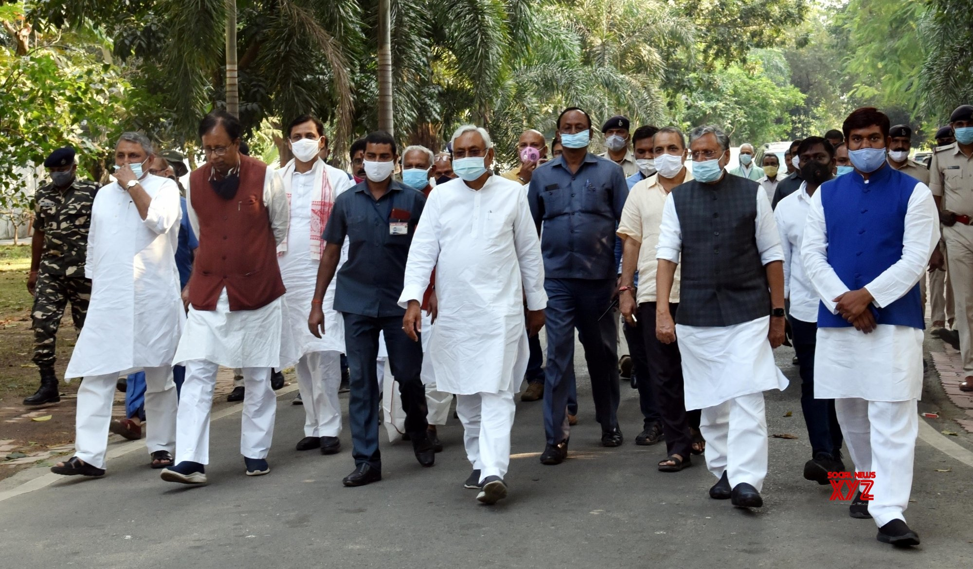 Patna: NDA leaders after a meeting #Gallery