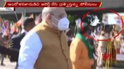 NTV:  Protesters throw Placards on Amit Shah (Video)