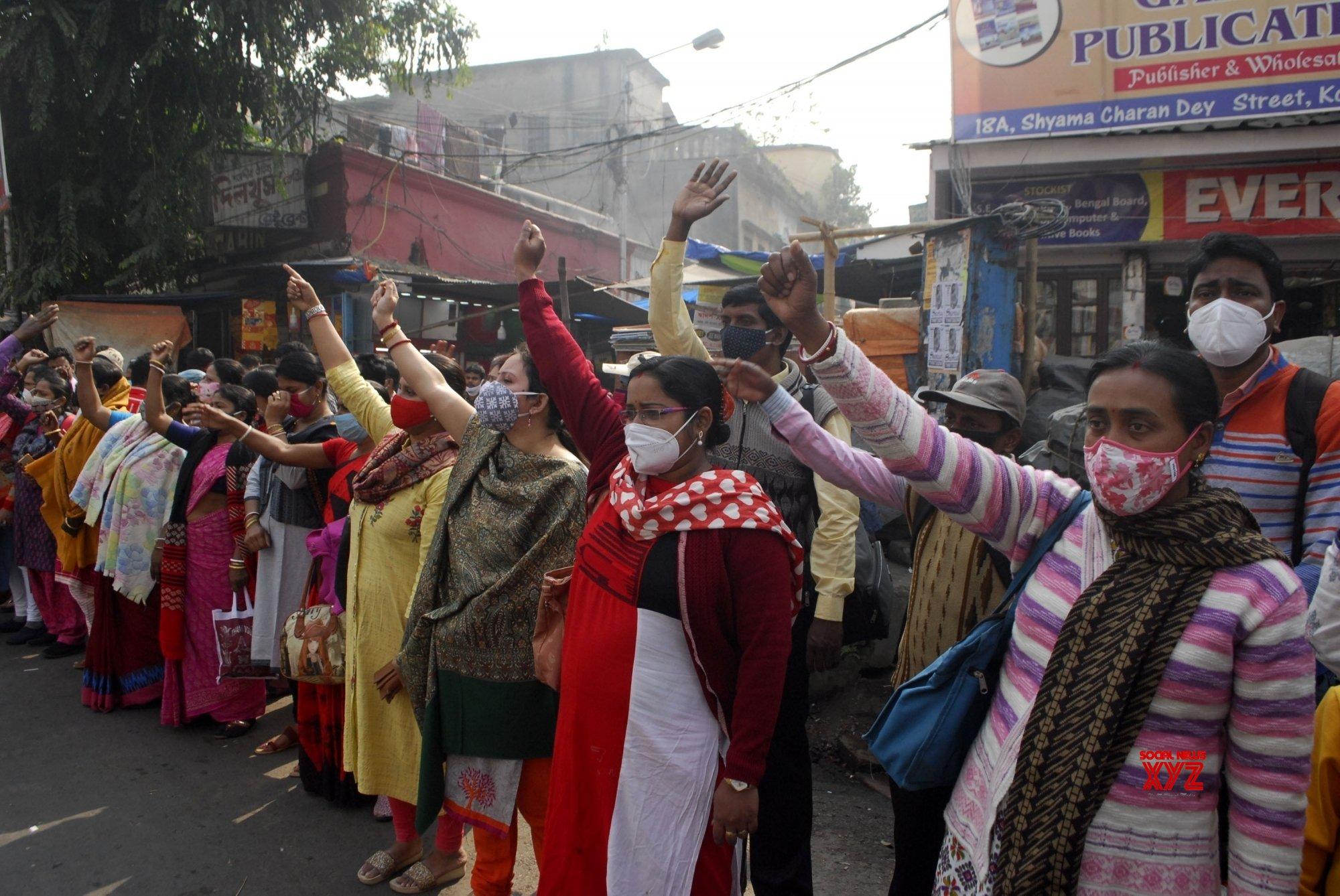 Kolkata: Para Teachers protest against WB Govt #Gallery - Social News XYZ