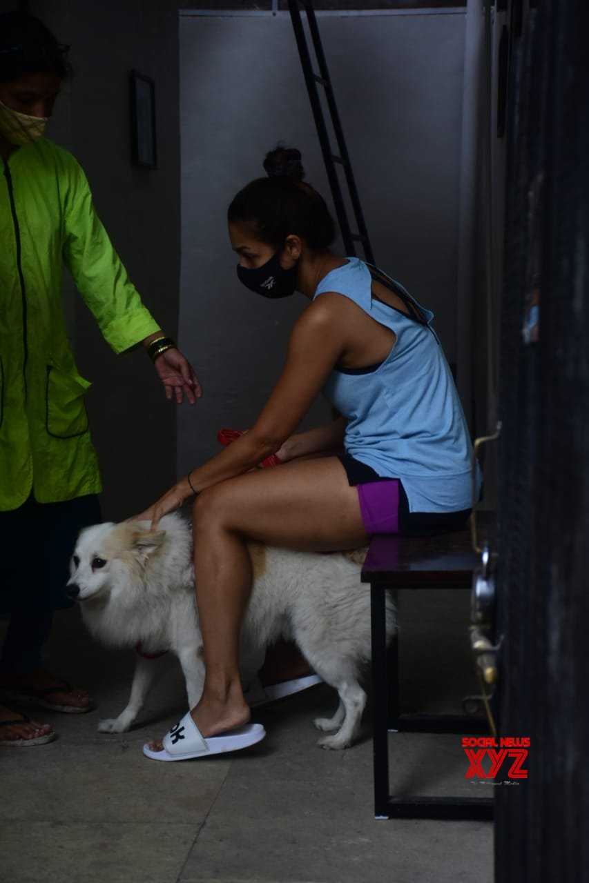 Actress Malaika Arora Spotted At Pet Clinic In Bandra - Gallery