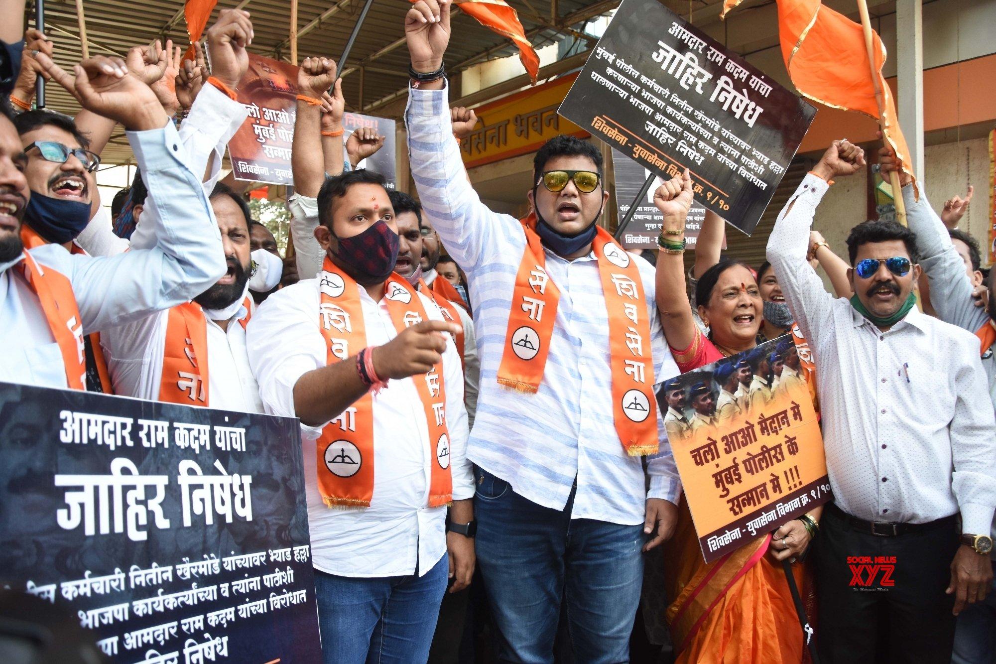 Mumbai: Sena youth wing to stage protests against BJP MLA, Ram Kadam #Gallery