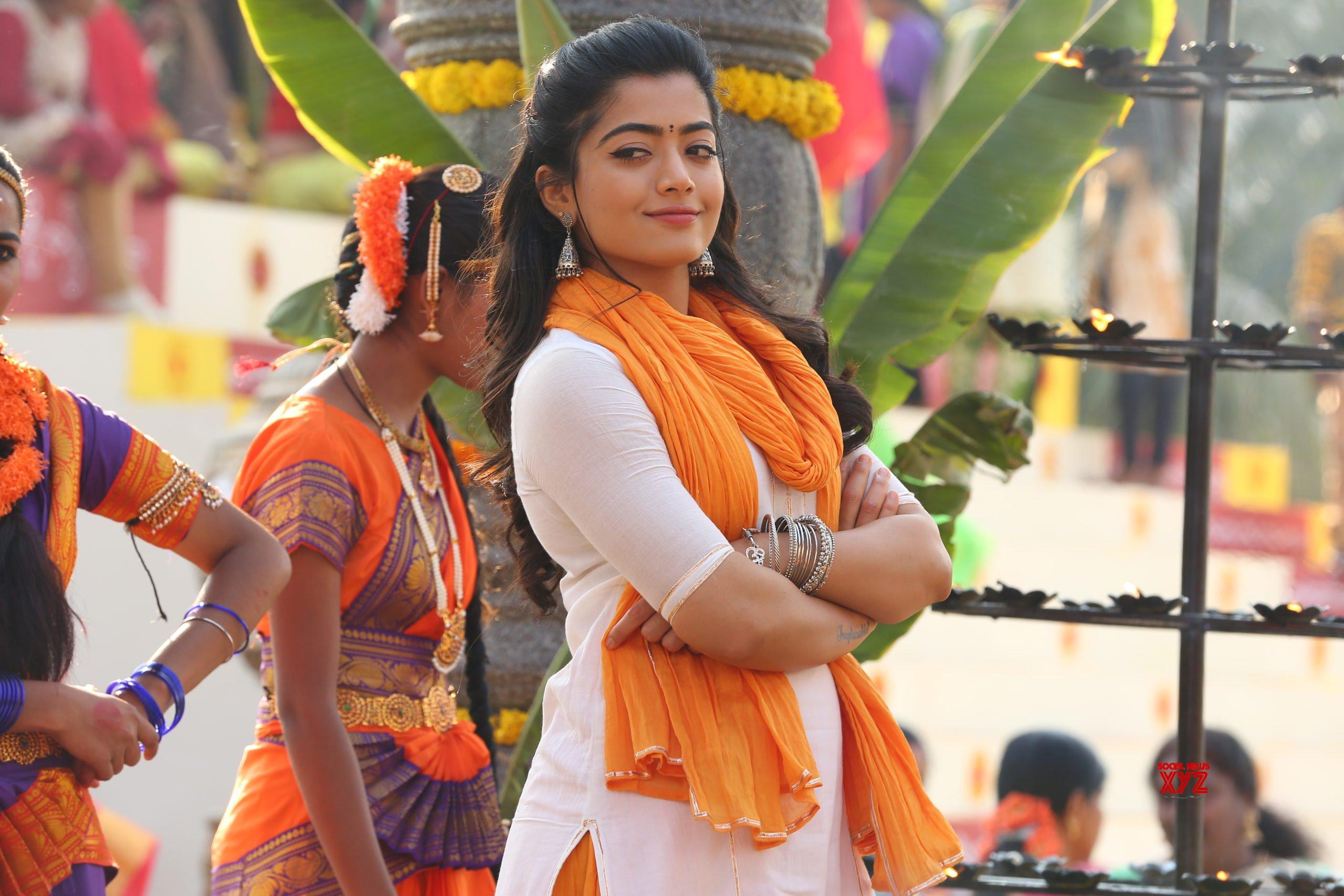 Actress Rashmika HD Stills From Pogaru Movie