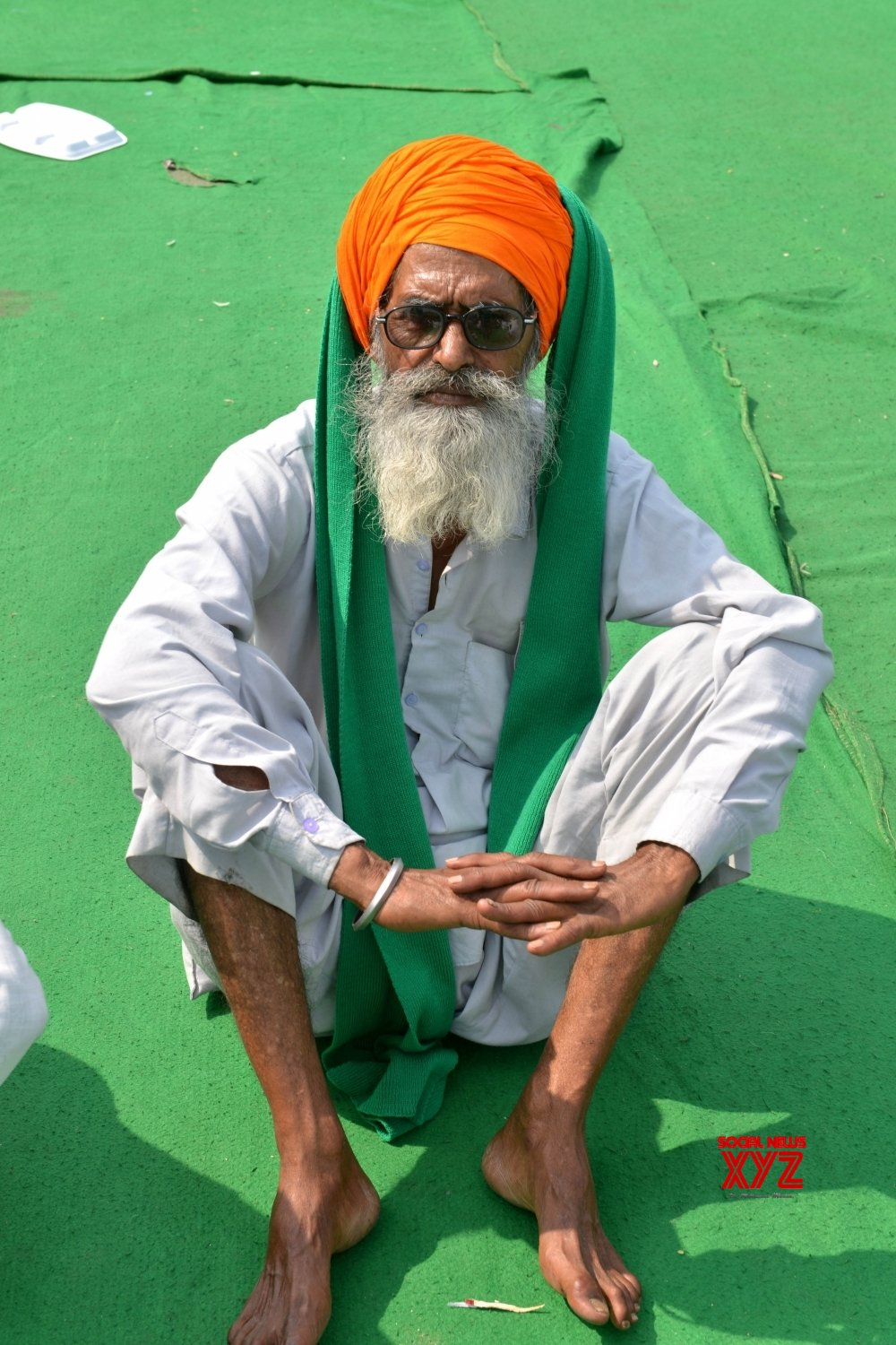 New Delhi: Farmers sitting at the demonstration site during the ongoing farmer protest against the new farm laws at Ghazipur Border, in New Delhi on Monday 22nd February 2021. #Gallery
