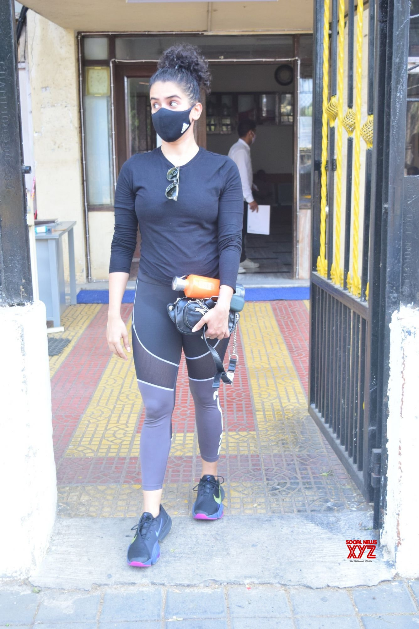 Actress Sanya Malhotra Spotted Gym In Juhu - Gallery