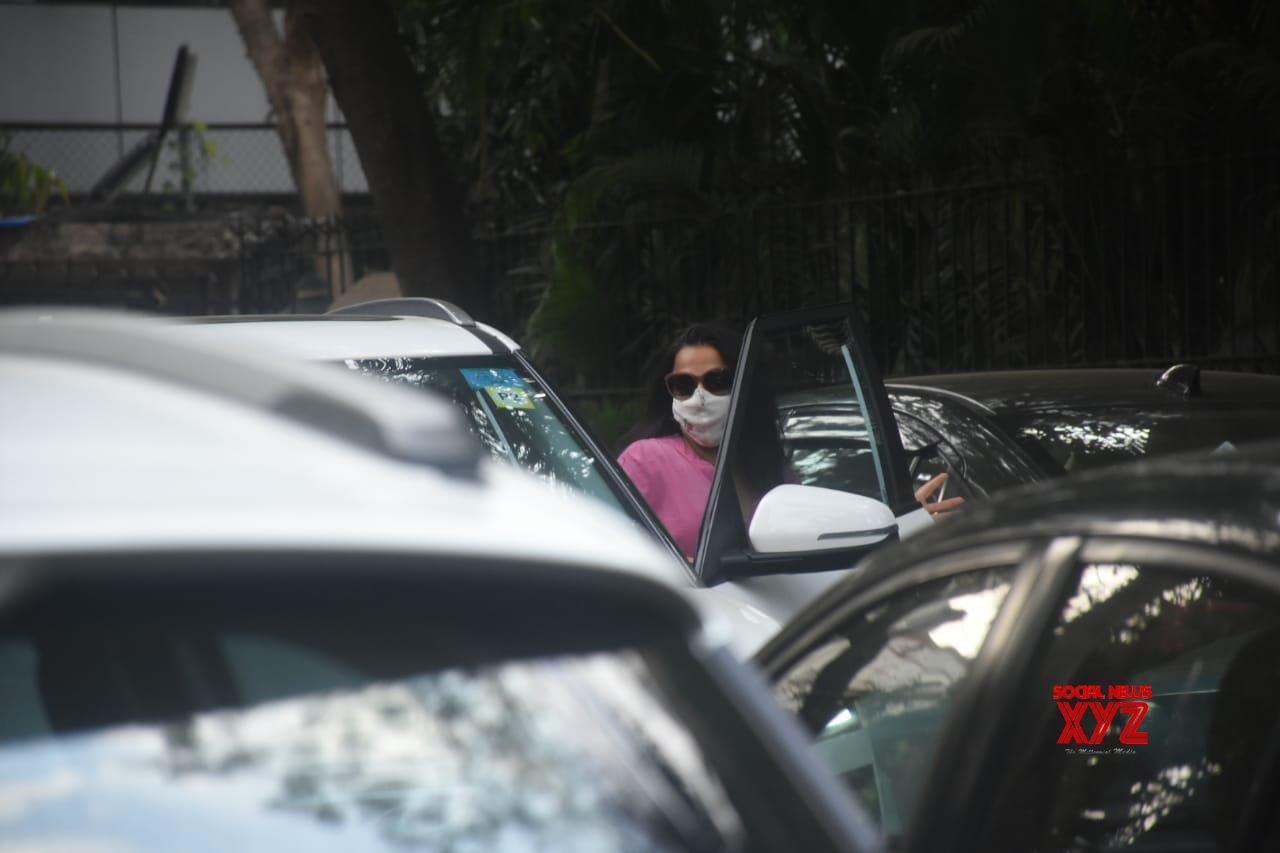 Actress Vidya Balan Spotted Dabbing Studio In Bandra