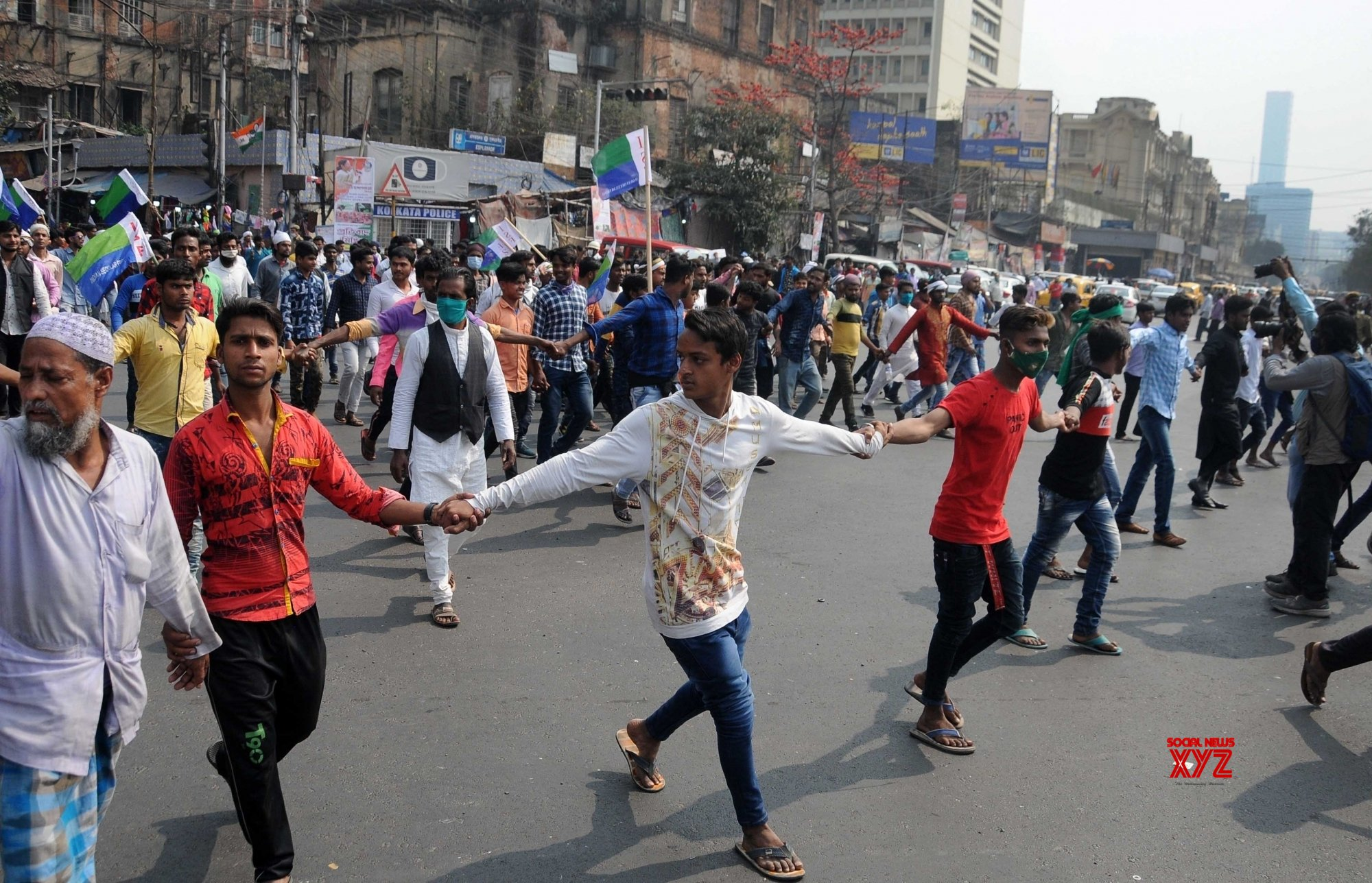 Kolkata: Indian Secular Front (ISF) activists took part in a protest rally against new farm law and against the Government in Kolkata, West Bengal on Tuesday 23rd February, 2021 #Gallery