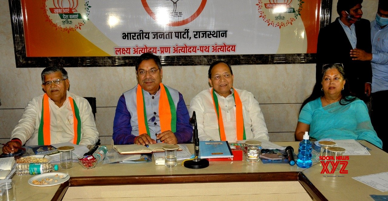 Raje attends BJP core group meeting for first time with Poonia as party prez