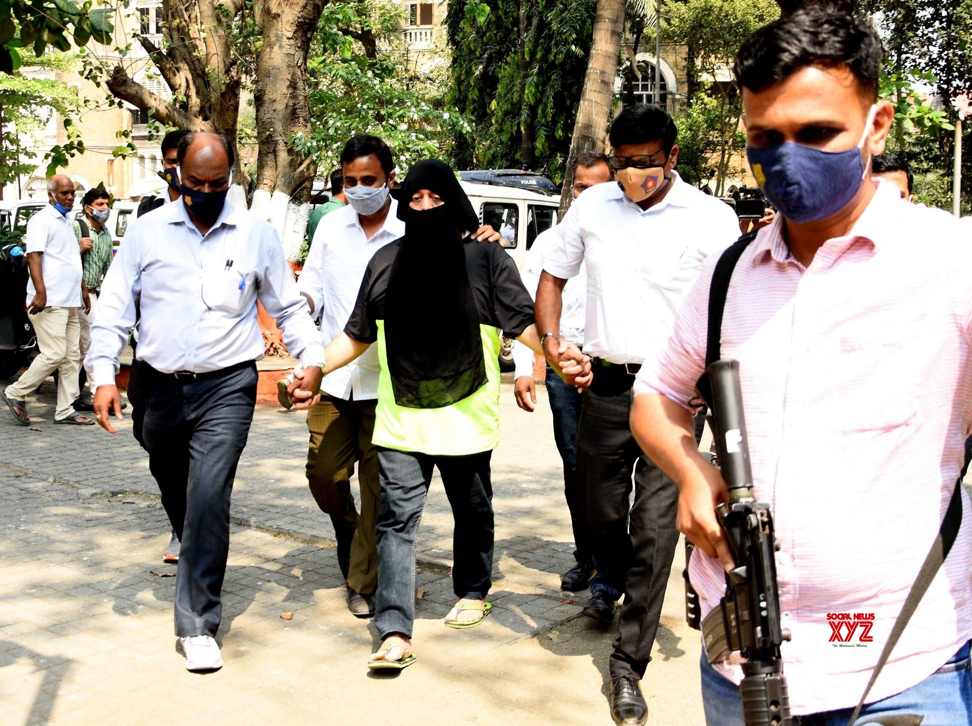Mumbai: Mumbai Crime branch's anti extortion cell brings Gangster Ravi Pujari at the Crime Branch #Gallery