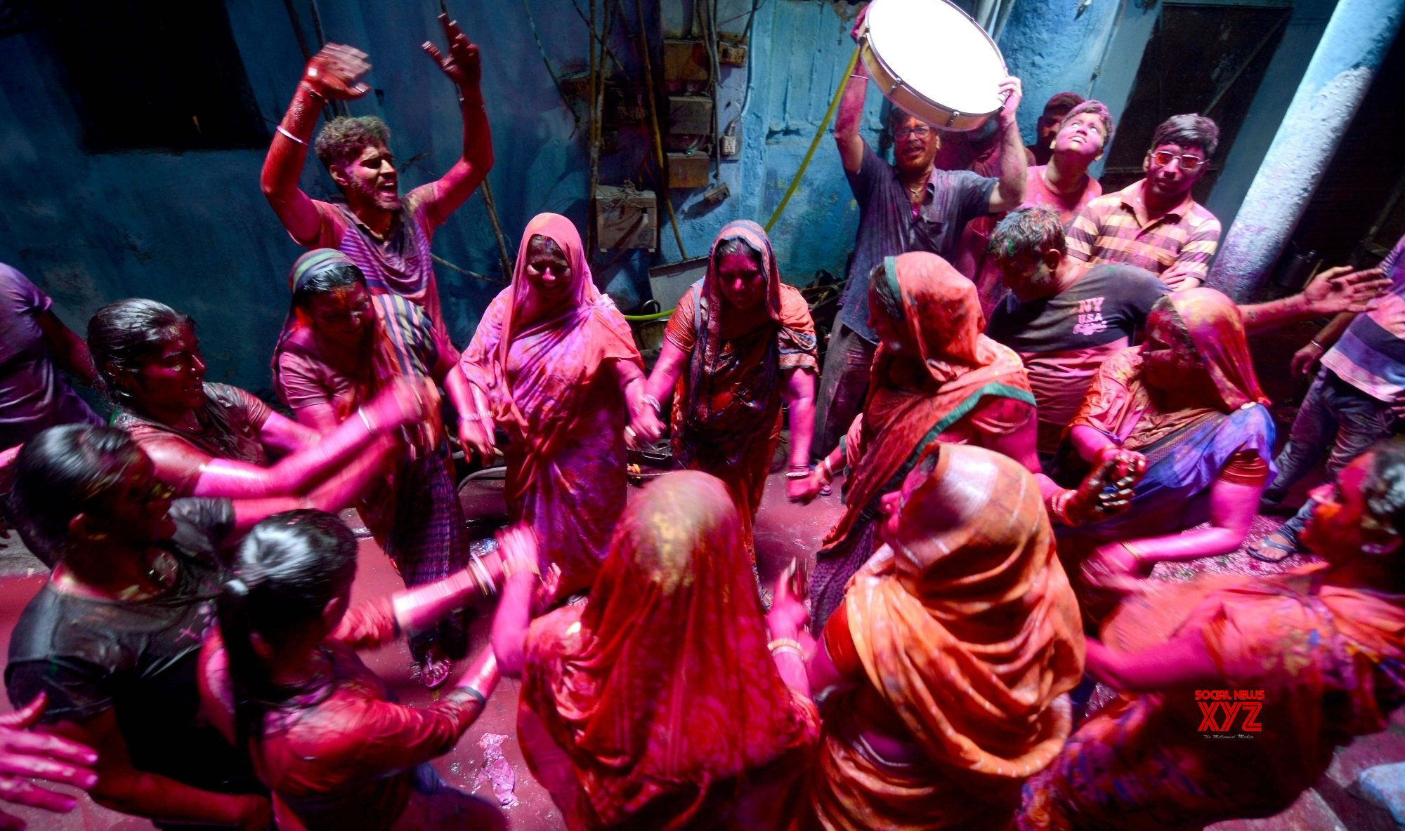 Kolkata: People play with colour during Holi celebration #Gallery