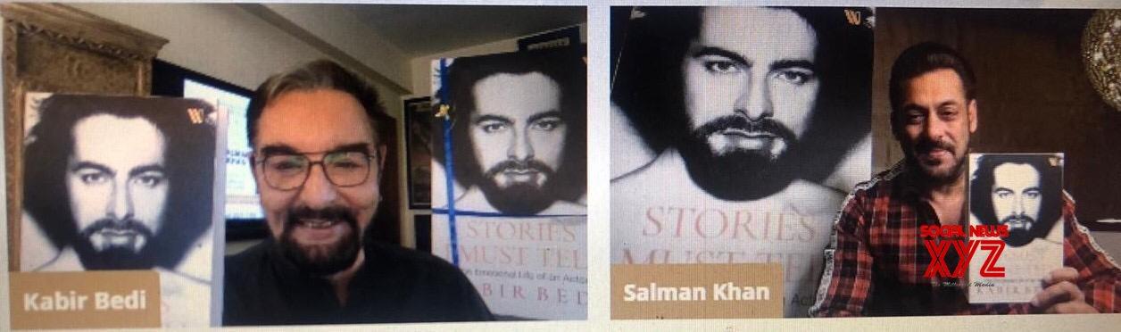 Salman Khan unveils cover of Kabir Bedi's memoir