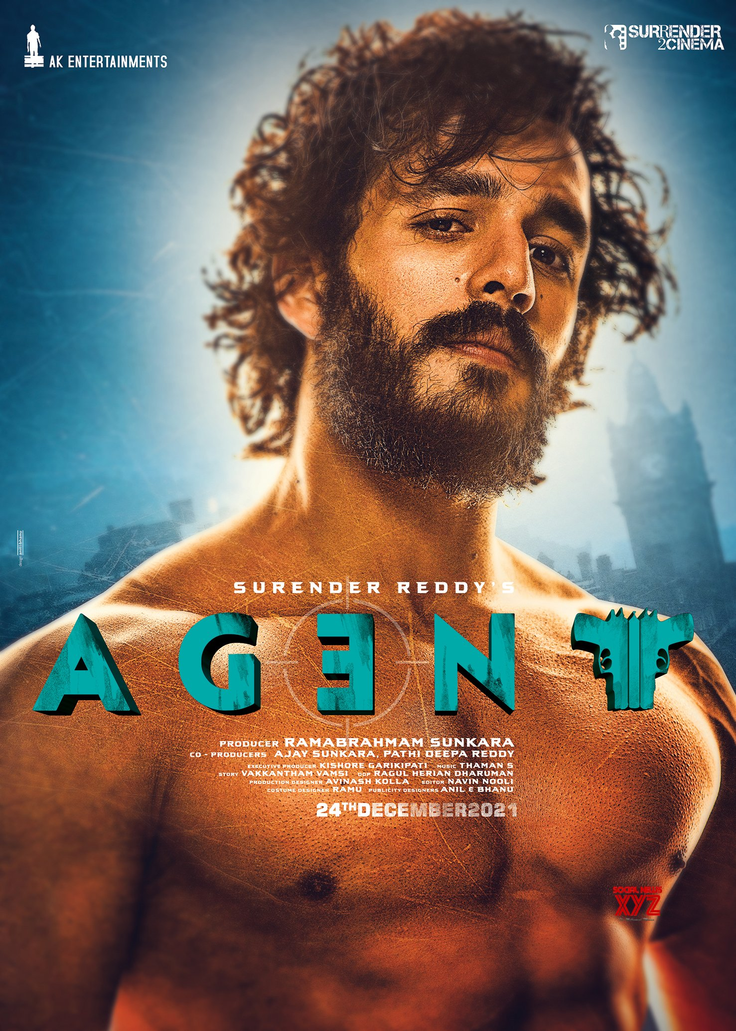 Akhil Akkineni's Stunning Look HD Poster And Still From Agent Movie