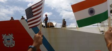 Chennai: United States Coast Guard Ship 'Stratton' at the Chennai port, on Aug 23, 2019. Stratton is on her maiden visit to India and will depart on August 27. During the stay, Coast Guards of India and the United States will take part in a joint harbour and sea exercise off the Chennai coast to promote coordination between the two maritime forces. (Photo: IANS)