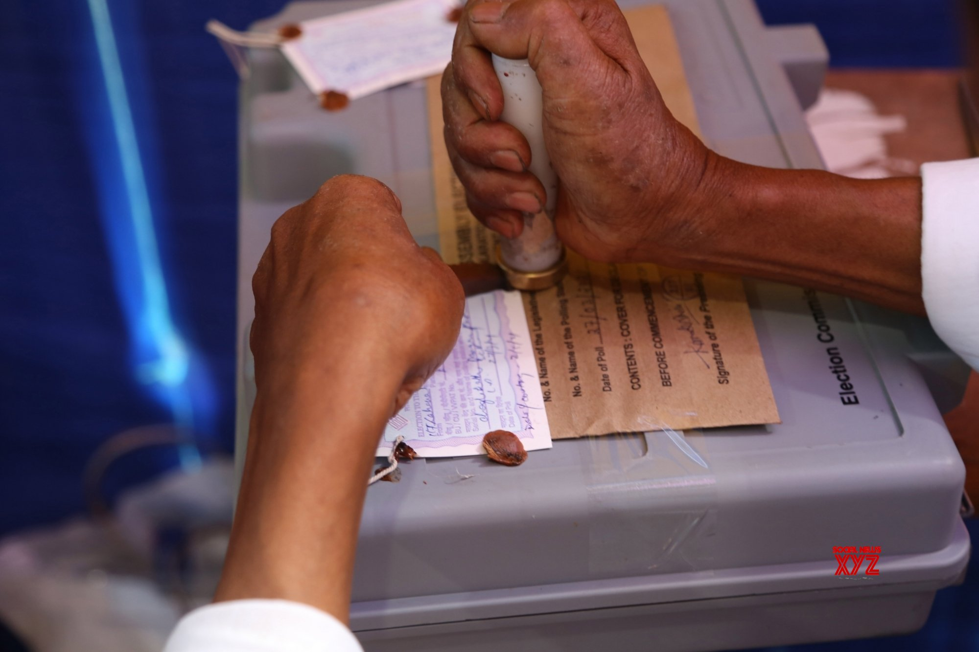 Guwahati: Election officials count the vote at government boys counting center in Dibrugarh #Gallery