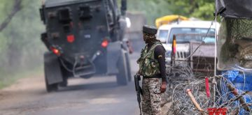 Srinagar :  Two terrorists were killed in an encounter between militants and security forces in the Nathipora area of Sopore in North Kashmir's Baramulla district on Tuesday evening, officials said. (Photo: Nissar malik/IANS)