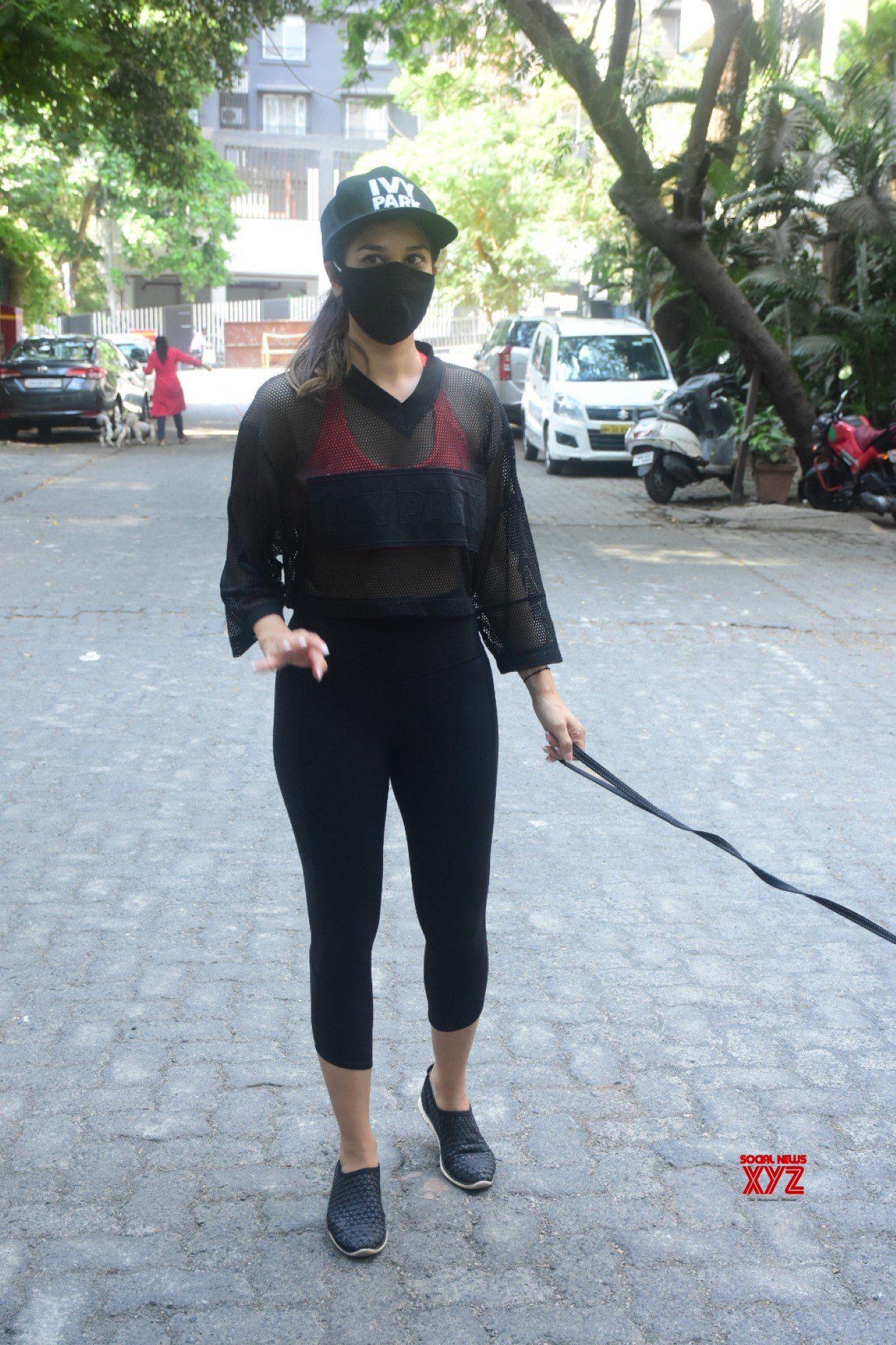 Actress Sophie Choudry Spotted With Her Pet Dog In Bandra - Gallery