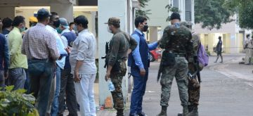 Kolkata:  Two history-sheeters from Punjab killed in shootout with police. The two have been identified as Jaipal Bhuller and Jaspreet Singh, two men from Punjab, who had several criminal cases against them, were killed  an exchange of fire with policemen in a Shapoorji Housing Complex residential area in Kolkata on Wednesday 09 June, 2021. (Photo: Kuntal Chakrabarty/ IANS)