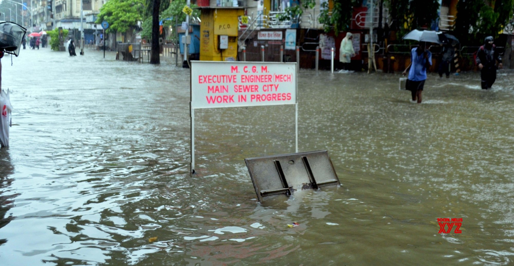 Mumbai: The first monsoon rains hit - Mumbai with full fury on Wednesday, hitting local trains and road traffic, waterlogged and flooding low - lying areas - in Mumbai. #Gallery