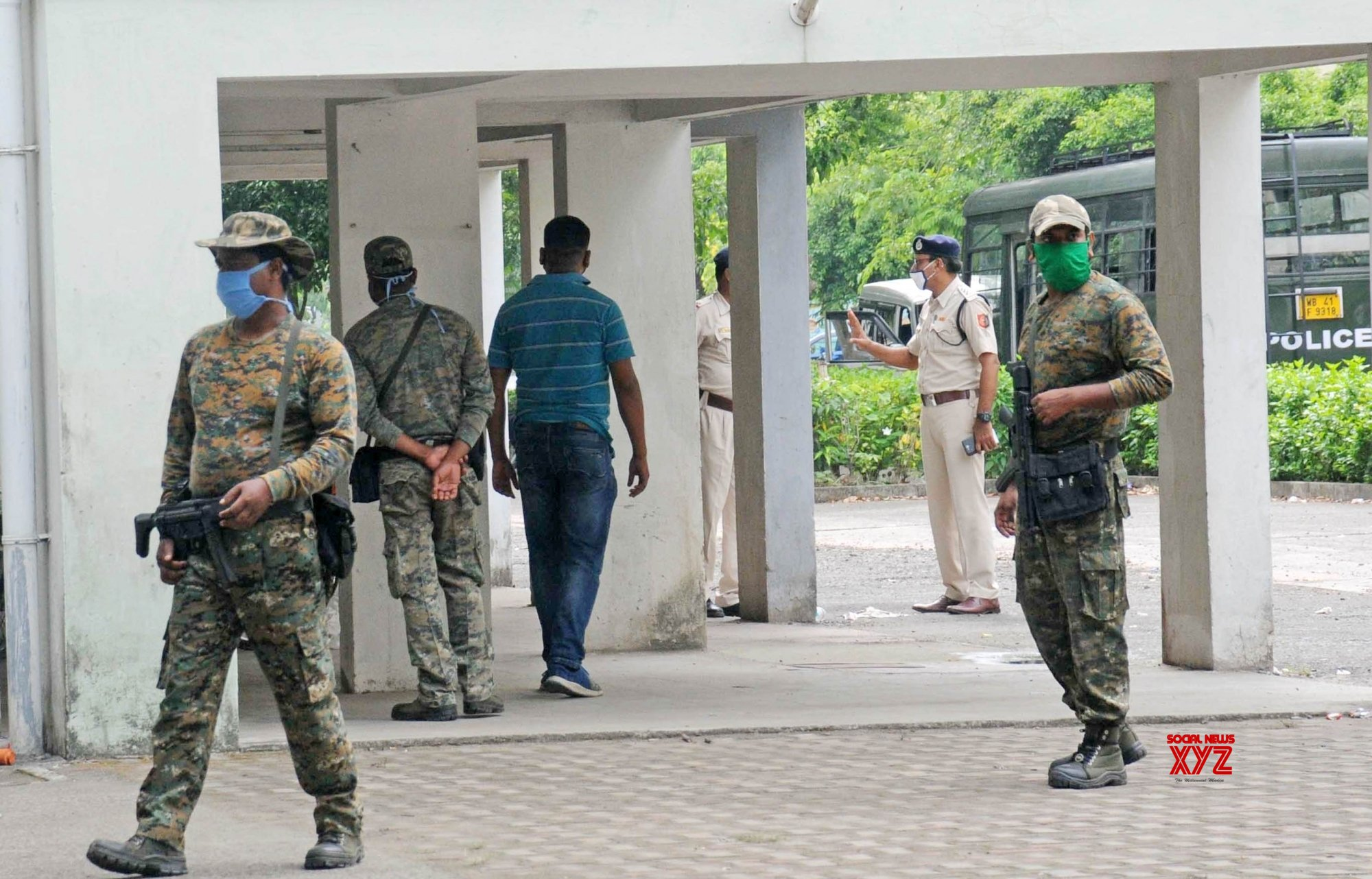 Kolkata: Security personnel are on high alert after two history - sheeters from Punjab killed in shootout with police and STF yesterday in Kolkata. #Gallery