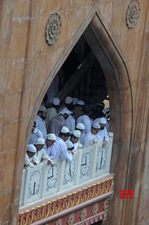 Kolkata: Muslim devotees gather for Eid prayers at Nakhoda Masjid in Kolkata for Eid - al - Adha festival in Kolkata #Gallery