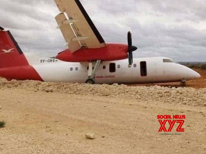 Plane crash - lands in Somalia with over 40 passengers onboard #Gallery