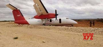 Wreckage of Skyward flight from Nairobi crash-landed at Burahache military camp, Elwak, Gedo region in Somalia, near the border with Kenya, on July 21, 2021. (Xinhua)