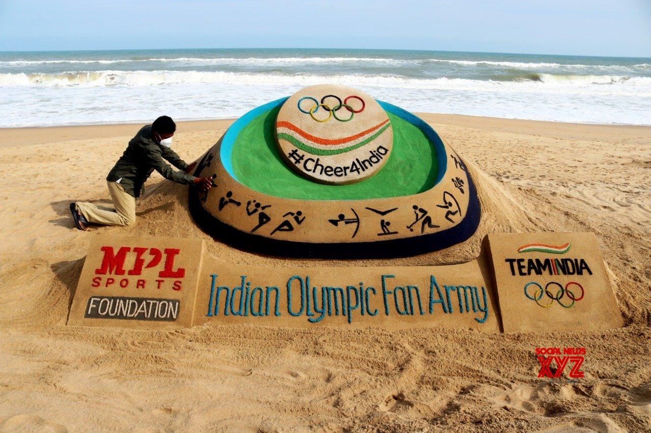 Artist Pattnaik unveils sand art for Indian athletes at Tokyo Olympics