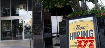 Photo taken on Sept. 3, 2021 shows a hiring notice in front of a restaurant in Washington, D.C., the United States. (Xinhua/Liu Jie/IANS)