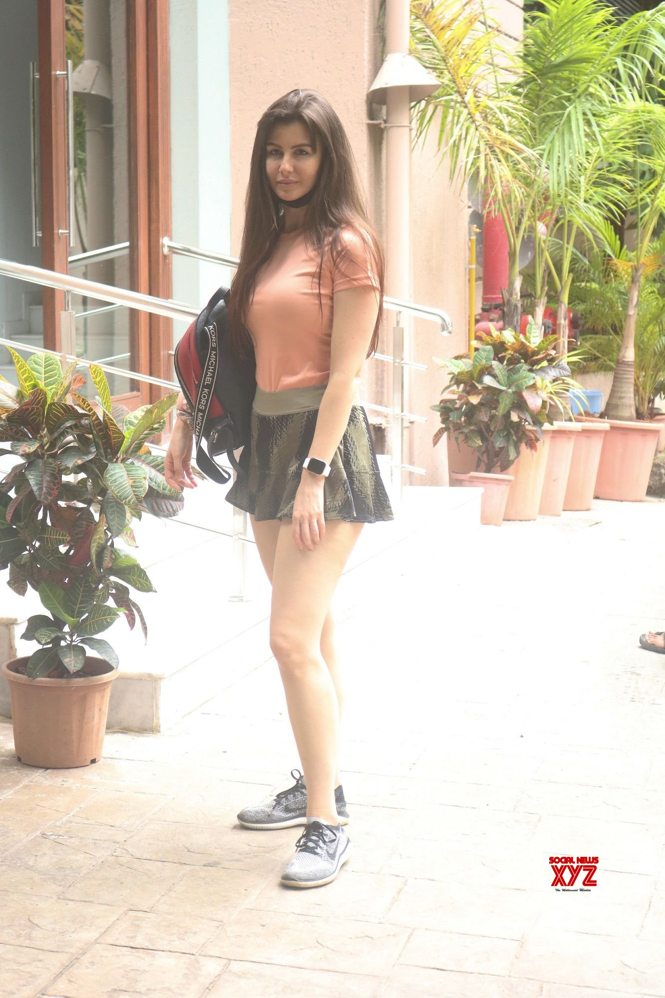 Actress Giorgia Andriani Spotted At Bandra - Gallery