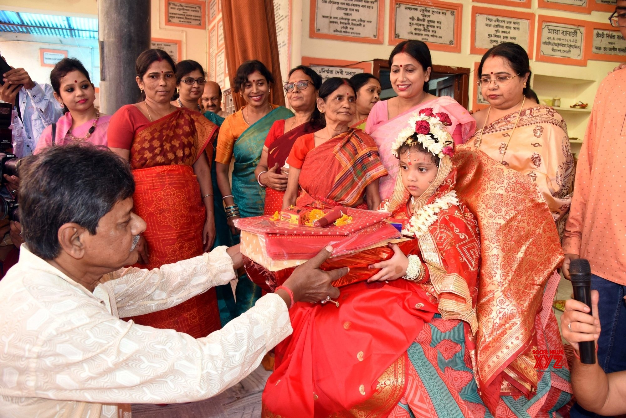 Patna:Devotees gather in a Puja Pandal during Kumari puja as the part of Durga Puja Festival #Gallery