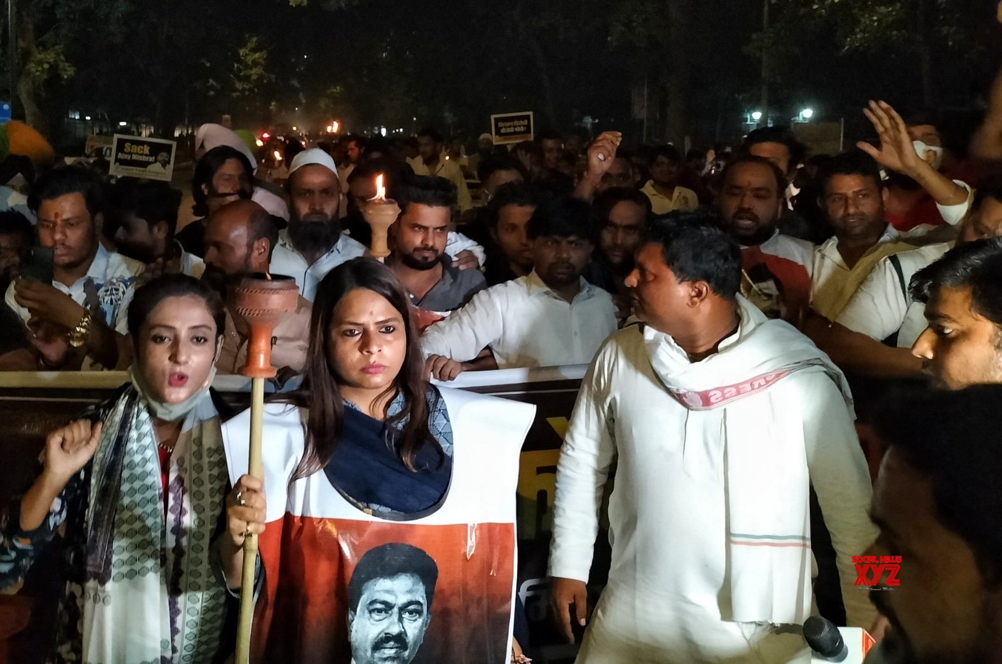 Youth Congress Participate 'Mashal Aakrosh Julus' for justice to the martyred farmers in Lakhimpur Kheri violence #Gallery