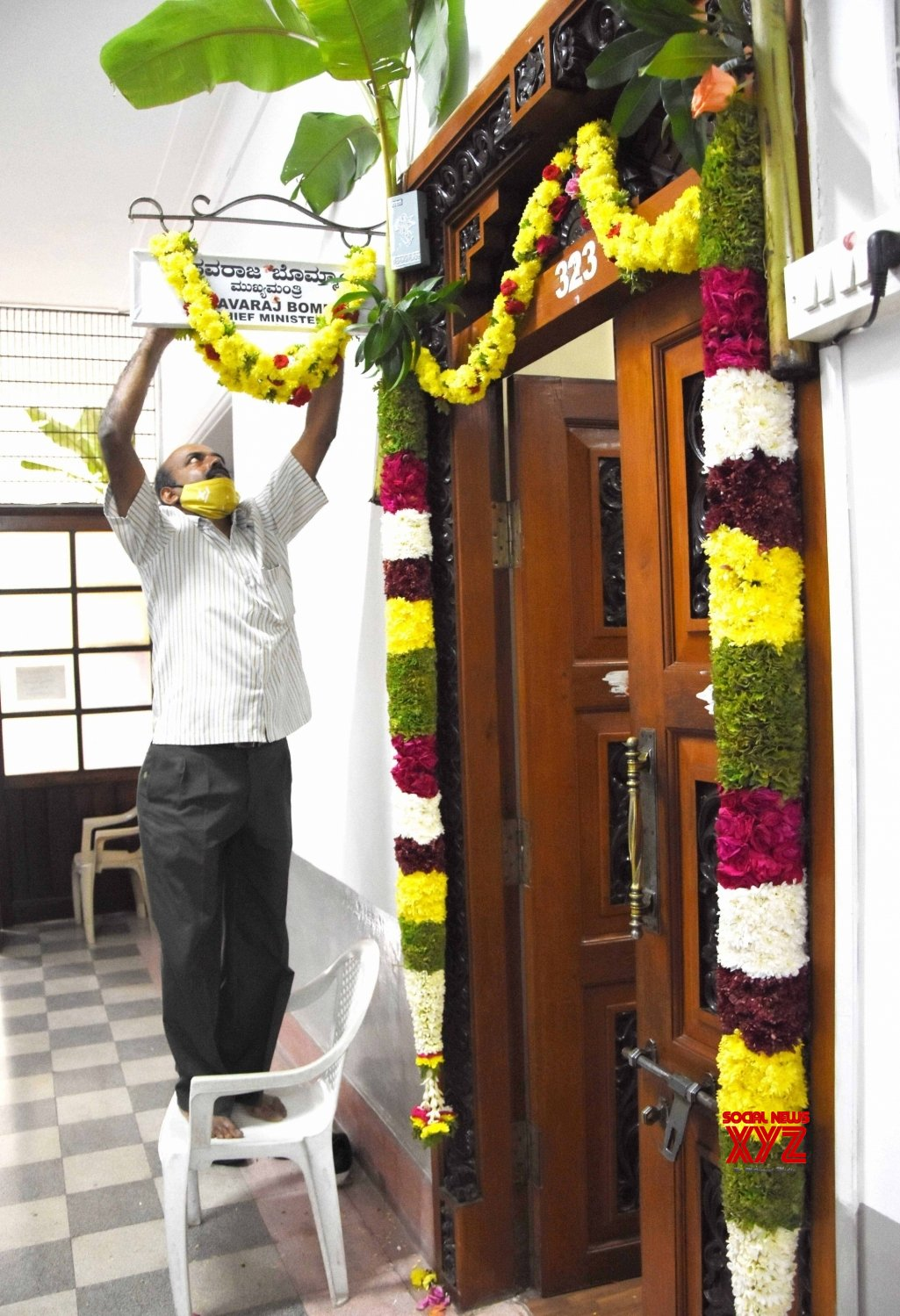 Staff Perform pooja at Government office, Vidhana Soudha and Vikasa Soudha on the eve of Ayudha Pooja, #Gallery