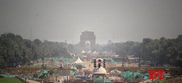 New Delhi: Central Vista project work in full swing on Rajpath in New Delhi on Wednesday, October 13, 2021. (Photo: Wasim Sarvar/IANS)