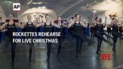 Rockettes rehearse for live Christmas show (Video)